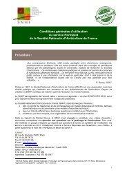 Conditions générales d'utilisation du service ... - Jejardine.org
