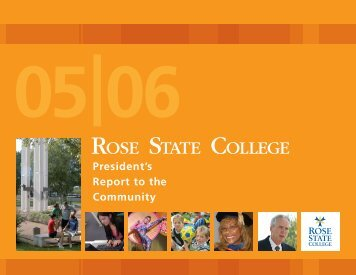 President's Report 2006 - Rose State College