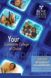 Student Handbook - Rose State College