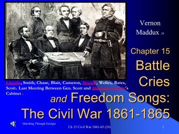 Battle Cries and Freedom Songs, Civil War 1861-65 - Rose State ...