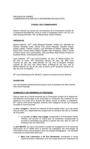 23 septembre 2003 - Documents administratifs partagés