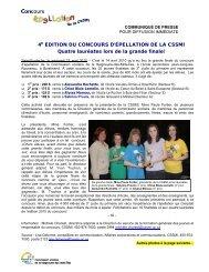 4E ÉDITION DU CONCOURS D'ÉPELLATION DE LA CSSMI Quatre ...