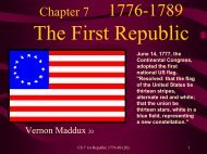 Chapter 7: The First Republic 1789-1800 - Rose State College