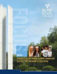 President's Report (PDF) - Rose State College
