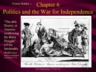 Chapter 6: The War for Independence 1774-89 - Rose State College
