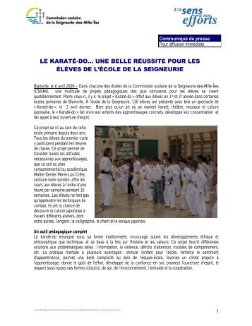 le karaté-do... une belle réussite pour les élèves de l'école de la ...