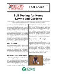Soil Testing for Home Lawns and Gardens - Snyder Farm - Rutgers ...