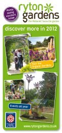 discover more in 2012 - Ryton Gardens