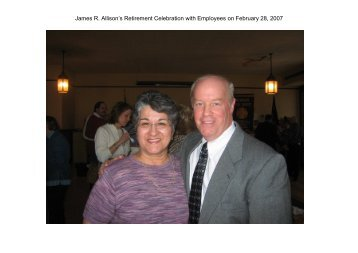 JRA's Retirement Celebration with Employees on February 28, 2007