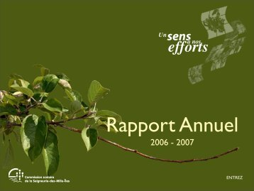 Rapport annuel 2006-2007 - Documents administratifs partagés