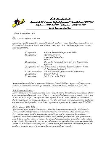 9 septembre 2013 - École Rose-des-Vents