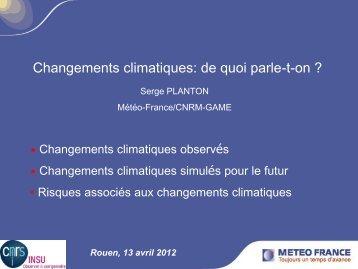 Les changements climatiques - Risques Majeurs et Environnement