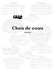 Choix de cours 2013-14