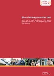 Wiener Wohnungslosenhilfe 2005 - Wohnen - Fonds Soziales Wien