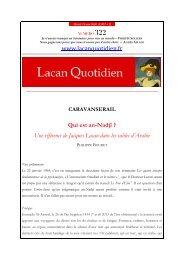 LQ 322 - Lacan Quotidien
