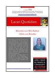 LQ 333 - Lacan Quotidien