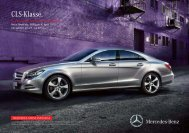 Preisliste CLS-Klasse - Autostern Wädenswil AG