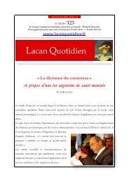 LQ 325 - Lacan Quotidien