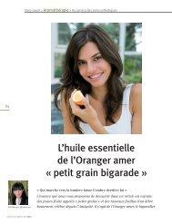 L'oranger amer PGB (Citrus aurantium)
