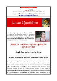 LQ 222 - Lacan Quotidien
