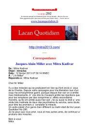 LQ292 - Lacan Quotidien