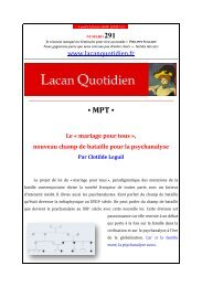 MPT - Lacan Quotidien