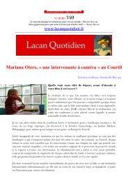 LQ 340 - Lacan Quotidien