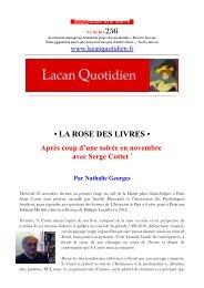 LQ256 - Lacan Quotidien