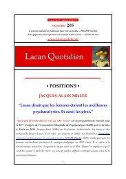 LQ 205 - Lacan Quotidien