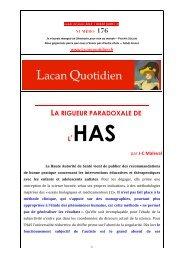 LQ 176 - Lacan Quotidien