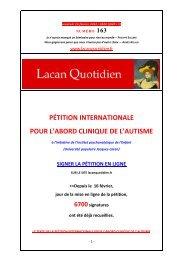 LQ 163 - Lacan Quotidien
