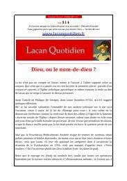 LQ 314 - Lacan Quotidien
