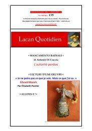LQ 135 - Lacan Quotidien