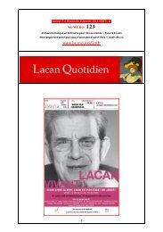 LQ 123 - Lacan Quotidien