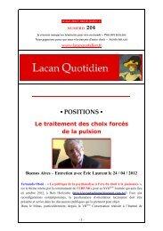 LQ 204 - Lacan Quotidien
