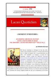 LQ 152 - Lacan Quotidien