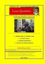 LQ 60 - Lacan Quotidien