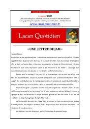 LQ280 - Lacan Quotidien