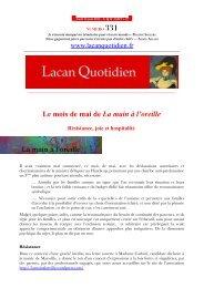 LQ 331 - Lacan Quotidien