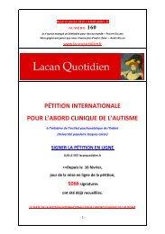 LQ 160 - Lacan Quotidien