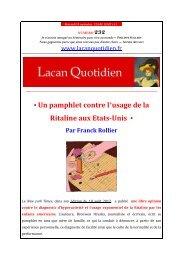LQ 232 - Lacan Quotidien