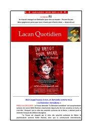LQ 51 - Lacan Quotidien