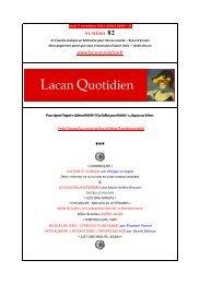 chronique - Lacan Quotidien