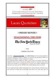 LQ 207 - Lacan Quotidien