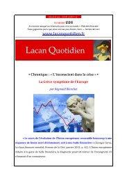 LQ 226 - Lacan Quotidien