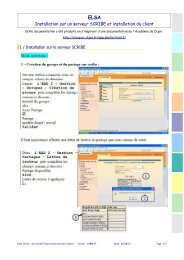 Installation sur un serveur SCRIBE et installation du client