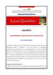 LQ245 - Lacan Quotidien