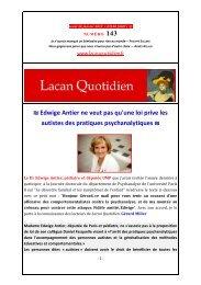 LQ 143 - Lacan Quotidien