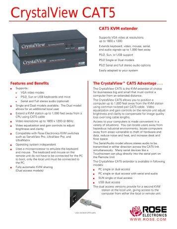 CrystalView CAT5 - Rose Electronics
