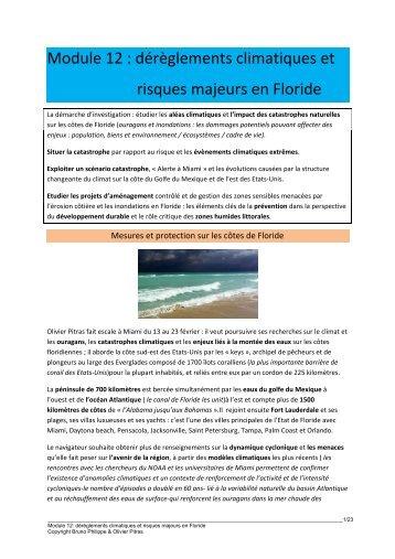 Module 12 : dérèglements climatiques et risques majeurs ... - 69 Nord